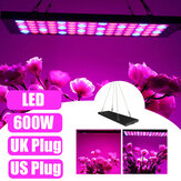 600W LED Grow Light Hydroponic Vollspektrum Zimmerpflanze Veg Flower Panel Lampe AC85-265V