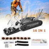16 In 1 Multi-Function Bike Repair Tool Kit Grinding Film Torque Wrench Screwdriver