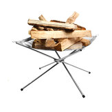 IPRee® Folding Camp Stove Fire Frame Stand Wood Burning Grill Stainless Steel Rack Heater