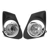 2 pièces voiture brouillard lampe avec cadre de couverture H11 ampoules interrupteur faisceau de câbles relais kit pour Corolla 2011-2013