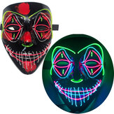 Halloween EL Full Face Mask Clown Horror LED Glowing Mask Light Up Party Masks for Glow Party