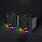 FANTECH GS202 Mini prise USB 3,5 mm sans aimant RGB Lightning PUBG LOL FPS Gaming Stereo Music Speaker