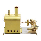 Microcosm M2C Mini-stoomketel met tweelingcilinder Marine stoommachine Stirlingmotor Model