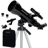 CELESTRON 175X 70mm Astronomical Telescope Space Reflector Scope Refractor with 4mm Eyepiece Storage Bag Tripod