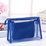 Honana BX-112 Impermeable PVC cosméticos Bolsa Dos piezas de traje Net Travel Maquillaje Transparente Bolsa