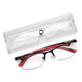 Men Women Retro Round Half-Frame Readers Reading Glasses