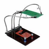 YP-004 Кронштейн для арматуры для печатных плат Паяльная станция Поддерживающая ручки с универсальным 4 гибким оружием DIY Набор с универсальн