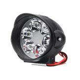 Motosiklet Far 6500 k Beyaz Süper Parlak 6 LED Çalışma Spot Işık Motosiklet Sis Lamba 1200LM LED Scooter Spot