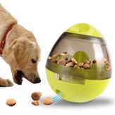 Yaniالإبداعيةالبيضشكلبهلوانالحيوانات الأليفة موزع للأغذية الكلب القط لعبة تدريب الحيوانات الأليفة التفاعلية للحيوانات ال