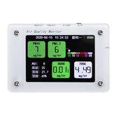 1 sztuk A2 PM2.5 TVOC CO2 HCHO AQI detektor zamglenia formaldehydu Monitor temperatury i wilgotności z obsługą karty TF funkcja WIFI