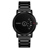 SKMEI 1260 Biznesowy kreatywny zegarek Luksusowy pasek ze stali nierdzewnej Męski zegarek kwarcowy