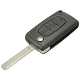 3 Button Light Remote Key Case w/ Blade For Citroen C4 C5 C6 C8