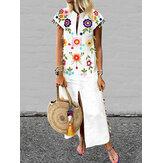 Женская богемная цветочная кисточка High Split Long Maxi Платье