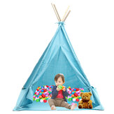 1.6/1.8M Kids Play Tents Cotton Canva Folding Indoor Outdoor Playhouse Triangle Indian Children Baby Game Funny House Wigwam Camping Tent