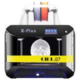 QIDI® X-Plus Impressora 3D FDM de tamanho industrial pré-instalada de tamanho grande com 270 * 200 * 200mm Tamanho de impressão Suporte Suporte a conexão Wifi Impressão em fibra de carbono