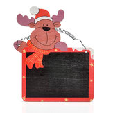 Mini Cartoon Weihnachten hängen Tafel Message Board Sticks Clips Wand Tür Dekorationen