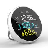 Detector de CO2 Bakeey DM1305 Medidor de temperatura e umidade Monitor de qualidade do ar multifuncional para casa