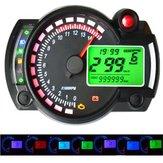 12V 15000RPM Compteur de vitesse de moto compteur kilométrique réglable LCD étanche