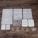 248PCS Silicone Earring Pendant Mold Necklace Jewelry Resin Mould Casting Craft