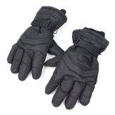 Aquecedor de inverno motocicleta impermeável, luvas de dedo completo mantêm-se quentes duráveis