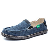 Men Washed Canvas Comfy Breathable Slip On Casual Shoes