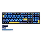 MechZone 109 Keys Blue Yellow Keycap Set OEM Profile PBT Keycaps para 61/68/87/104/108 Keys Mecânico Teclados