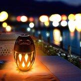 Portátil LED Flame Light Smart bluetooth Alto-falante Lâmpada de mesa Tocha Atmosfera Night Light DC5V