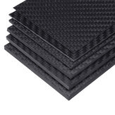 125x75x(0.5-5)mm Black Matte Twill Carbon Fiber Plate Sheet Board Weave Carbon Fiber Pannel Various Thickness