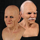 Christmas Cosplay Face Wig Old Man Mask Horror Headgear