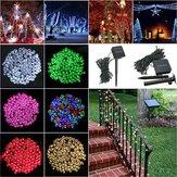 100 ليد بالطاقة الشمسية الجنية سلسلة ضوء حديقة حزب ديكور عيد الميلاد