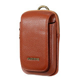 Men PU Leather Outdoor Sport Casual Phone Bag Cell Phone Pouch for 5.5 Inches Phone