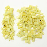 20/50Pcs Yellow 12-10AWG 6.35mm 90 Degree Right Flag Lucar Spade Female Terminals