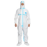 Disposable Waterproof Oil-Resistant Protective Coverall for Spary Paintings Decorating Clothes Overall Suit L/XL/XXL/XXXL