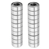20Pcs 5x10x4mm Metal Sealed Shielded Deep Groove Ball Bearing MR105ZZ