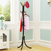 Coat Rack Hat Stand Clothes Hanger Umbrella Holder Metal Home Office Entry