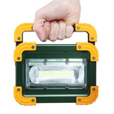 30W LED COB Portable Camping Light USB Akumulator Odkryty Flood Lantern Spot Lampa robocza