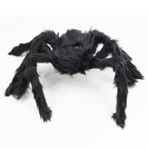50cm-200cm Black Plush Spider Halloween Decoration Home Haunted House Spider Decor