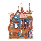 174PCS 3D Madera Láser Corte Dream Villa Tridimensional Ensamblaje Puzzle Modelo Juguetes educativos para niños Regalo