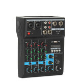 4 Channel Audio Mixer Professional bluetooth Mixer Audio Mixing DJ Console with Reverb Effect for Home Karaoke USB Live Stage Karaoke KTV