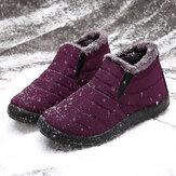 LOSTISY Femmes Chaussures De Neige Imperméables Garder Au Chaud Confortables Cheville Bottes De Neige