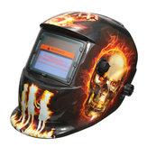 Hellfire Padrão Capacete de soldagem com escurecimento automático solar Solda Máscara Arc Mig Tig de retificação com 2 lentes