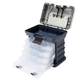4 Layers Handheld Storage Case High Strength Accessories Tackle Tool Box