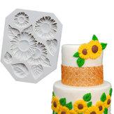 Gıda Sınıfı Silikon Pasta Kalıp DIY Chocalate Çerezler Buz Tepsisi Pişirme Parçalar Çiçekler ve Yapraklar Şekil