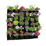 أكياس زرع 36 جيوبًا للتعليق على الحائط أخضر تنمو حقيبة زارع حديقة عمودية للخضروات المعيشة حقيبة حديقة لوازم منزلية