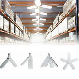 E27 2/3/4/5 Leaves Deformable LED Garage Light Bulb Adjustable Work Shop Ceiling Lamp AC220V