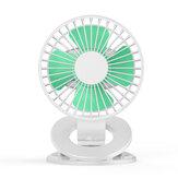 Bakeey Clip Fan USB Kleine ventilator Grote capaciteit Mini Desktop Office Student Fan
