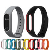 Bakeey™ Double Color Replacement Silicone Wrist Strap Watch Band for XIAOMI Miband 2 Non-original