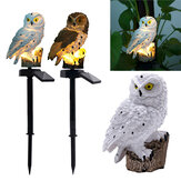 Waterproof Solar Power Owl LED Lawn Light Garden Yard Landscape Ornament Lamp Home Outdoor Decoration