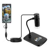 3 In 1 Dijital Mikroskop HD 1000X Taşınabilir Elektronik Büyüteç Kamera 8 LED USB Mikroskop Endoskopi Kamera Çocuklar Parçalar