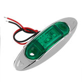 4Pcs Green 3LED 24V Side Marker Indicator Light Clearance Lamp Truck Trailer Lorry Van